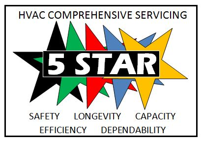 5 Star Comprehensive HVAC servicing logo